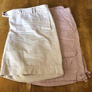 2 pair Loft size 12 Bermuda length shorts
